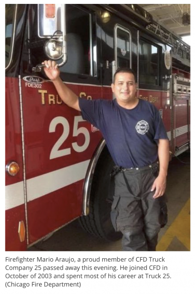Chicago Firefighter Mario Araujo