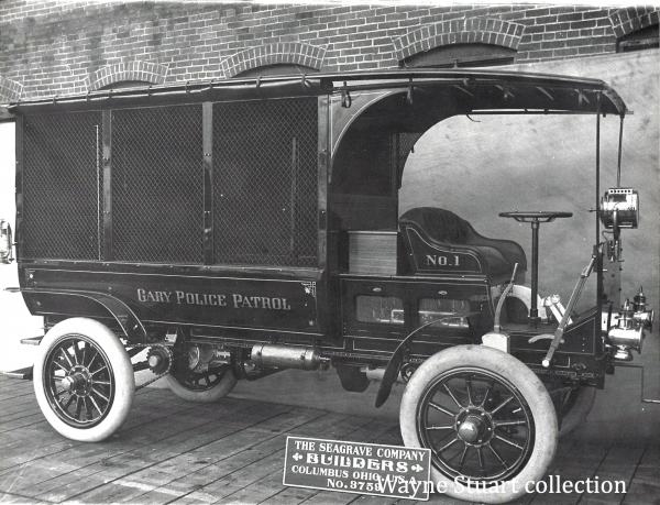 Gary Police Department 1909 Seagrave Paddy Wagon Serial # 3759
