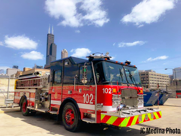 New E-ONE fire engine for Chicago FD Engine 102