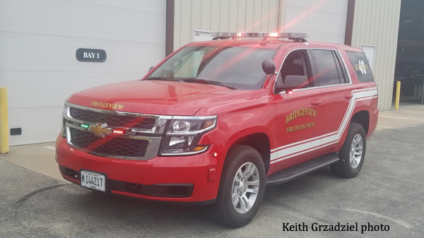 2020 Chevy Tahoe for fire chief