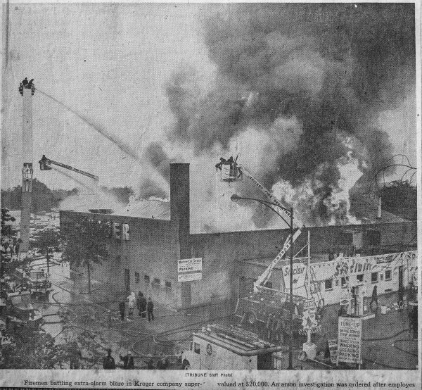 4-11 Alarm fire in Chicago 7-28-63