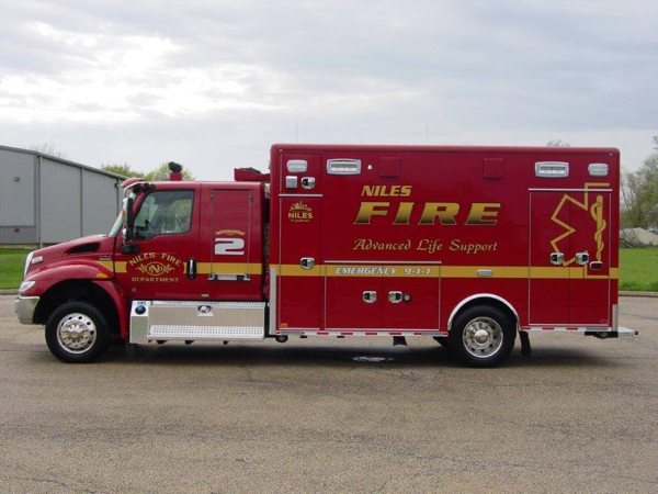 ambulance on IHC extended cab chassis