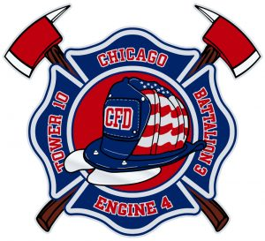 new Chicago FD company decal patch logo