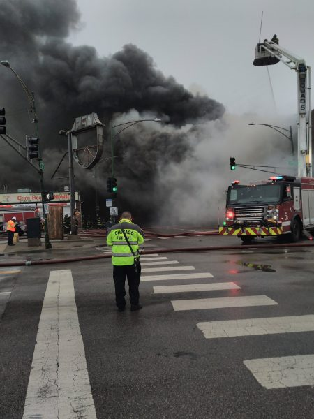 massive smoke at Chicago building fire