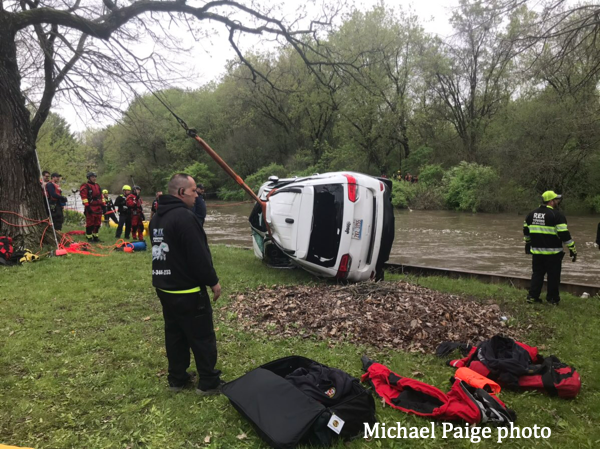 Swift water rescue in Wonder Lake, 5-18-20