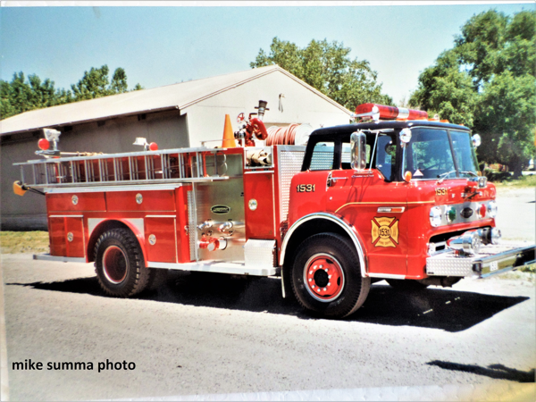 Vintage 1984 Ford C/E-One fire engine from Markham, IL
