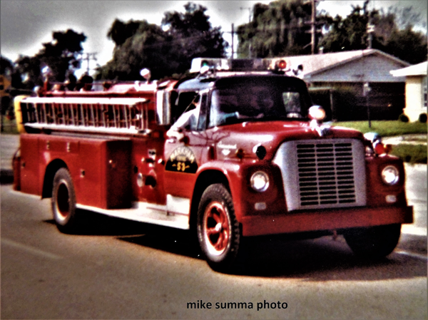 vintage fire engine from Markham FD IL