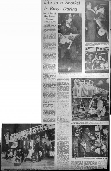 vintage news clipping about Chicago FD SS1
