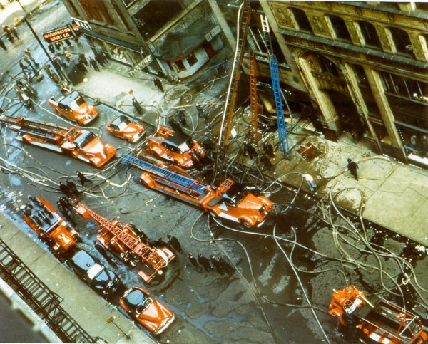 vintage 3-11 Alarm fire in Chicago 4-27-51