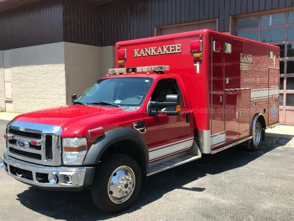 Kankakee FD 2008 Ford Type 1 ambulance for sale