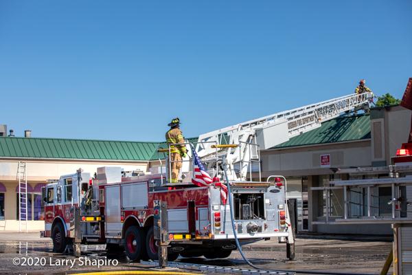 Pierce quint at fire scene