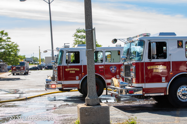Waukegan FD fire engines
