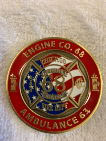 Chicago FD Engine Company 68 challenge coin