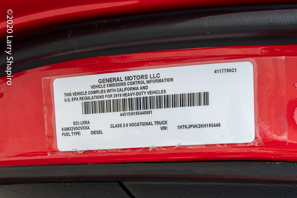 General Motors truck law tag