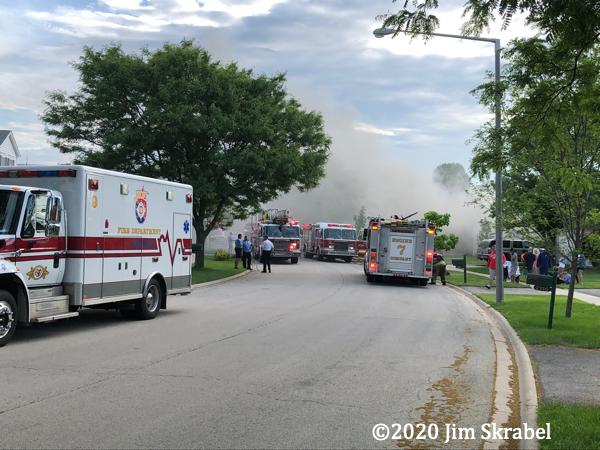 house fire scene in Joliet IL