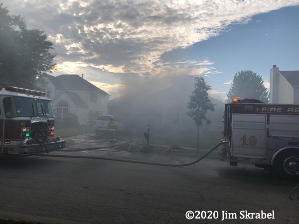 heavy smoke from house fire in Joliet