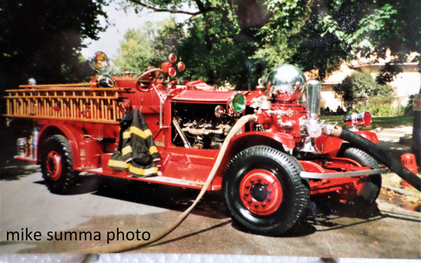 classic Ahrens Fox fire engine