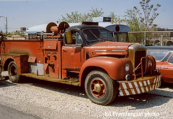 classic Chicago FD Mack B-Model fire engine