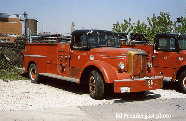 classic Chicago FD Mack L-Model fire engine
