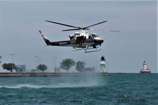 Chicago FD Air Sea Rescue training