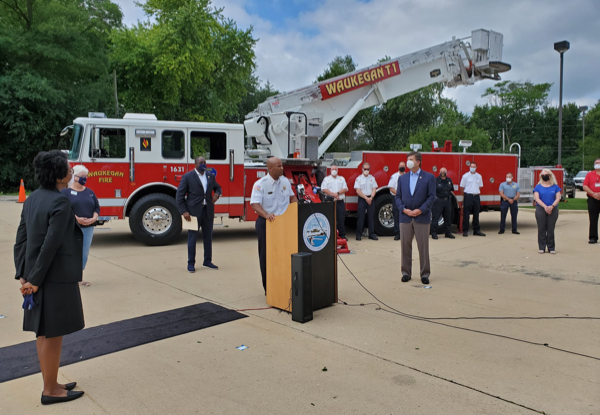 Waukegan FD press conference