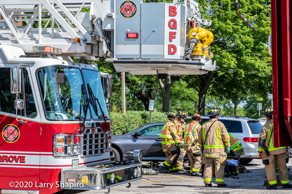 Buffalo Grove Firefighter/paramedics at crash scene