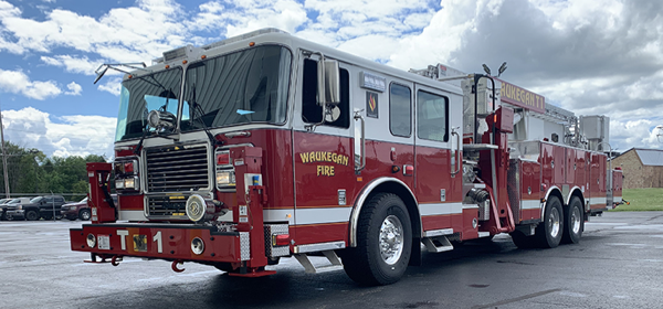 "Marauder 141"" 95' Aerialscope Non-Quint Platform for Waukegan Fire Department - Waukegan, IL"