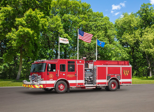 Warrenville FPD fire engine