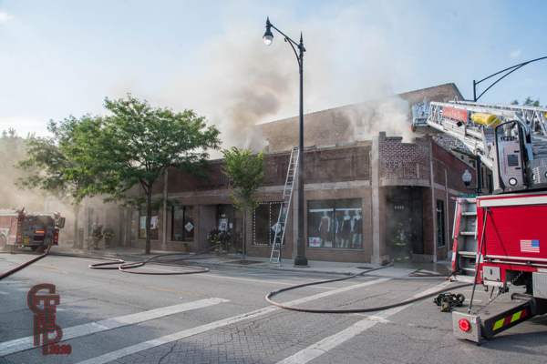 smoke from store front in Chicago