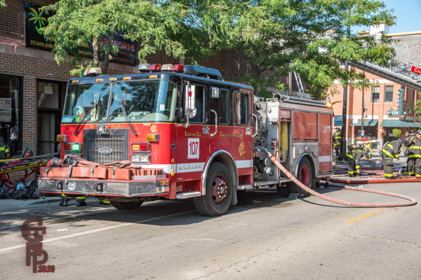 spare fire engine in Chicago