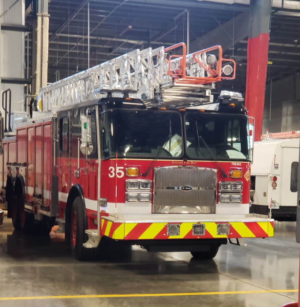 E-ONE ladder truck in Chicago