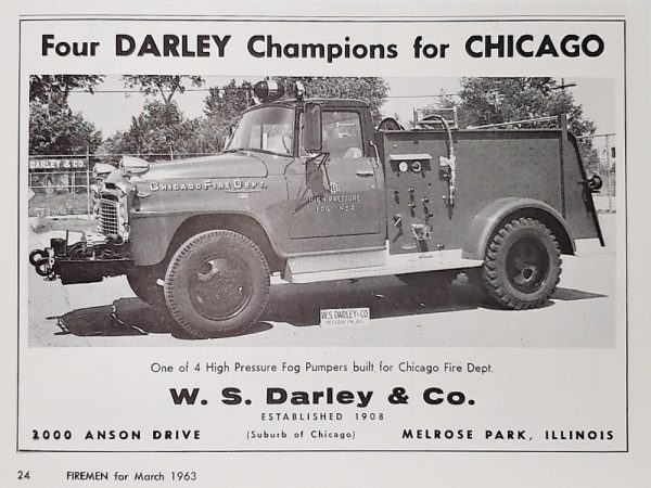Jeep/Darley high pressure fog pumpers for Chicago