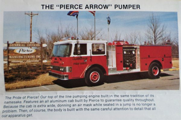 Pierce Arrow Pumper Greenwood