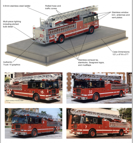 Fire Replica die-cast fire truck models