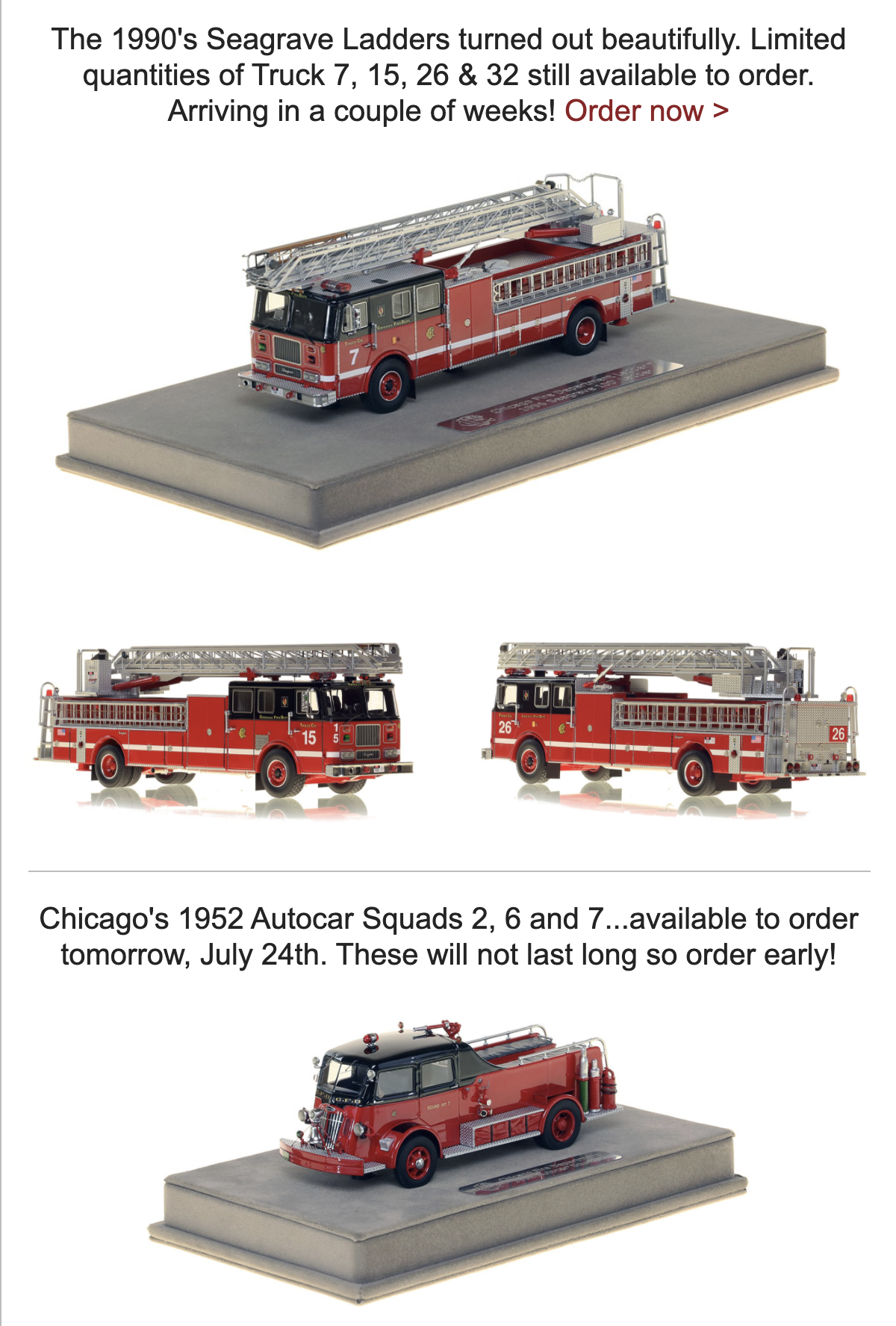 Fire Replicas Museum Grade Models
