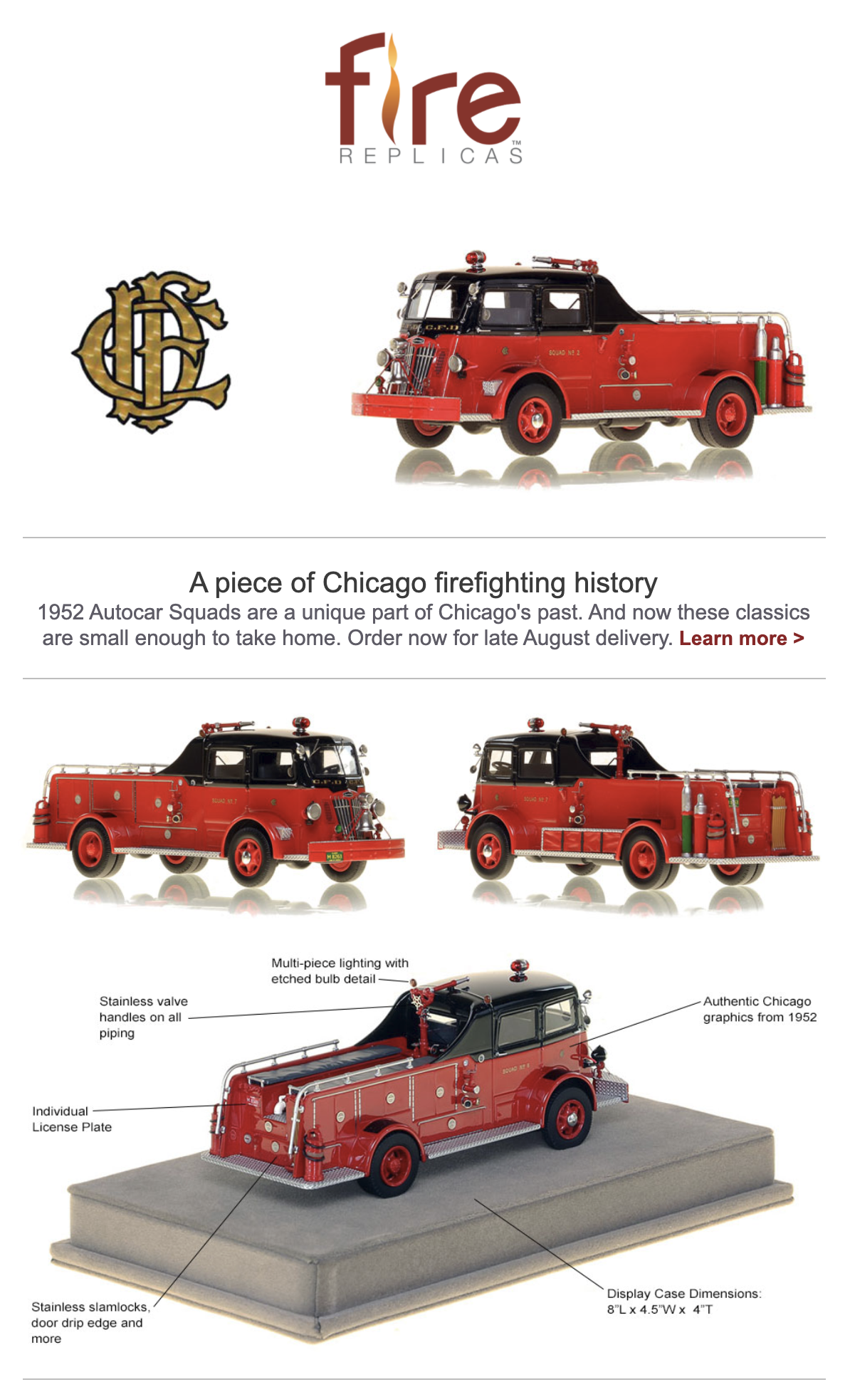 Chicago FD Autocar Squad replica model
