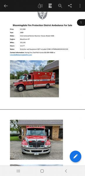 2009 IHC 4300/Horton Type I ambulance for sale