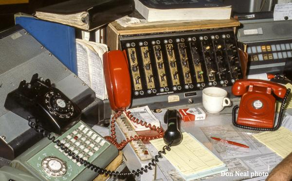 vintage fire alarm dispatch setup