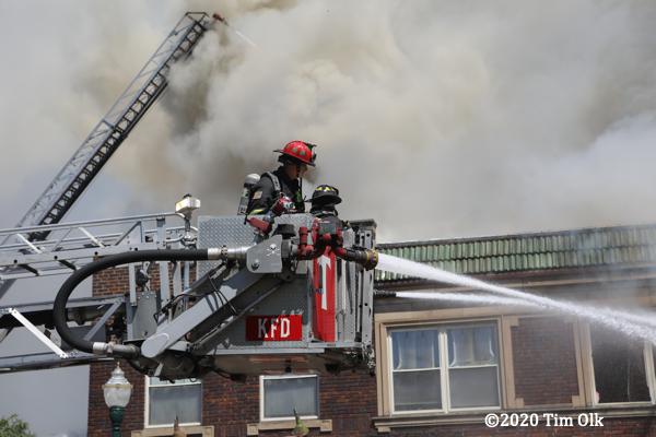 Kenosha Fire Department 2-Alarm fire at 6217 22nd Ave, 8/12/2