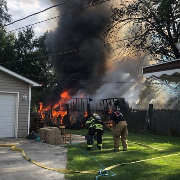 Garage fire in Lockport, IL 8/19/20
