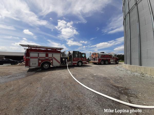 fire tender nursing an engine