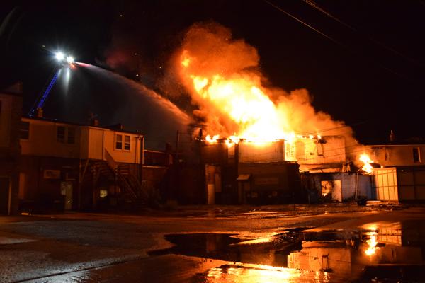 Zion Firefighters battle a fire