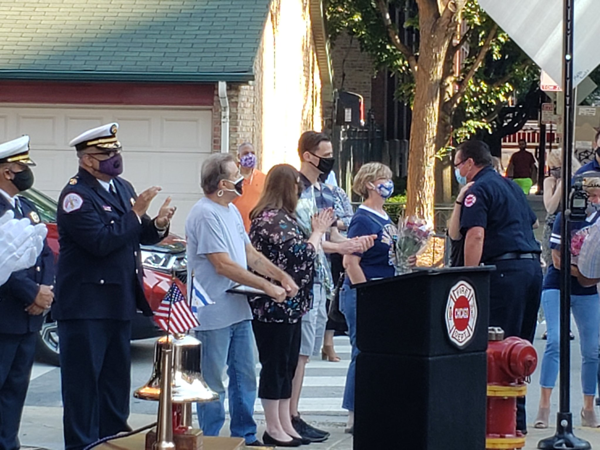 The Chicago Fire Department along with family & friends held the 10th Year Ceremonial Bell Ringing for fallen Firefighter Christopher Wheatley. CFD received its first new fireboat decades in 2011 and it was named after Wheatley
