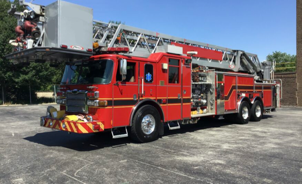 former Orland FPD tower ladder for sale