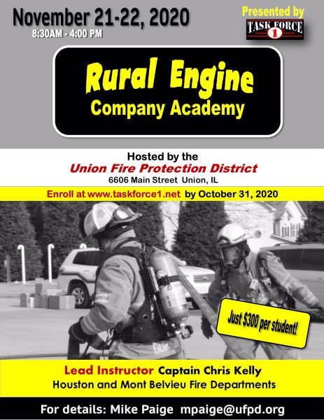 Union FPD in Illinois to host Rural Engine Company Academy
