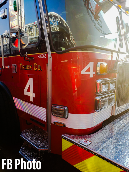 New E-ONE aerial ladder truck assigned to Chicago FD Truck 4