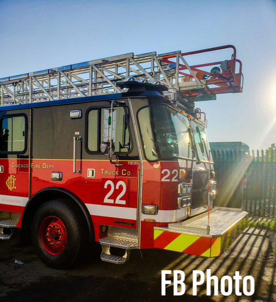 New E-ONE aerial ladder truck assigned to Chicago FD Truck 22