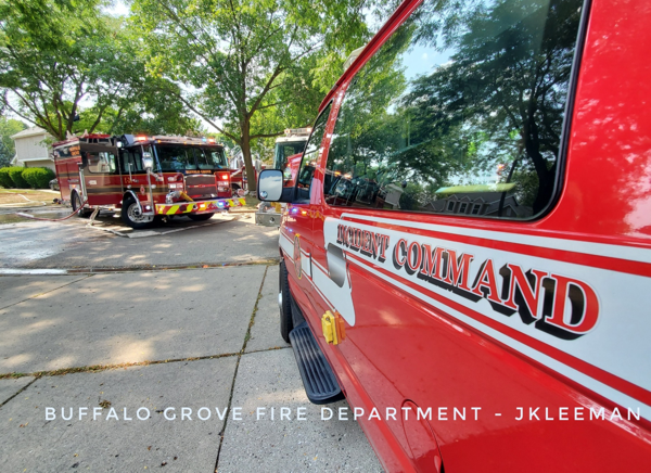 Firefighters battled a 2-Alarm house fire at 25 Dellmont Court in Buffalo Grove 8/26/2