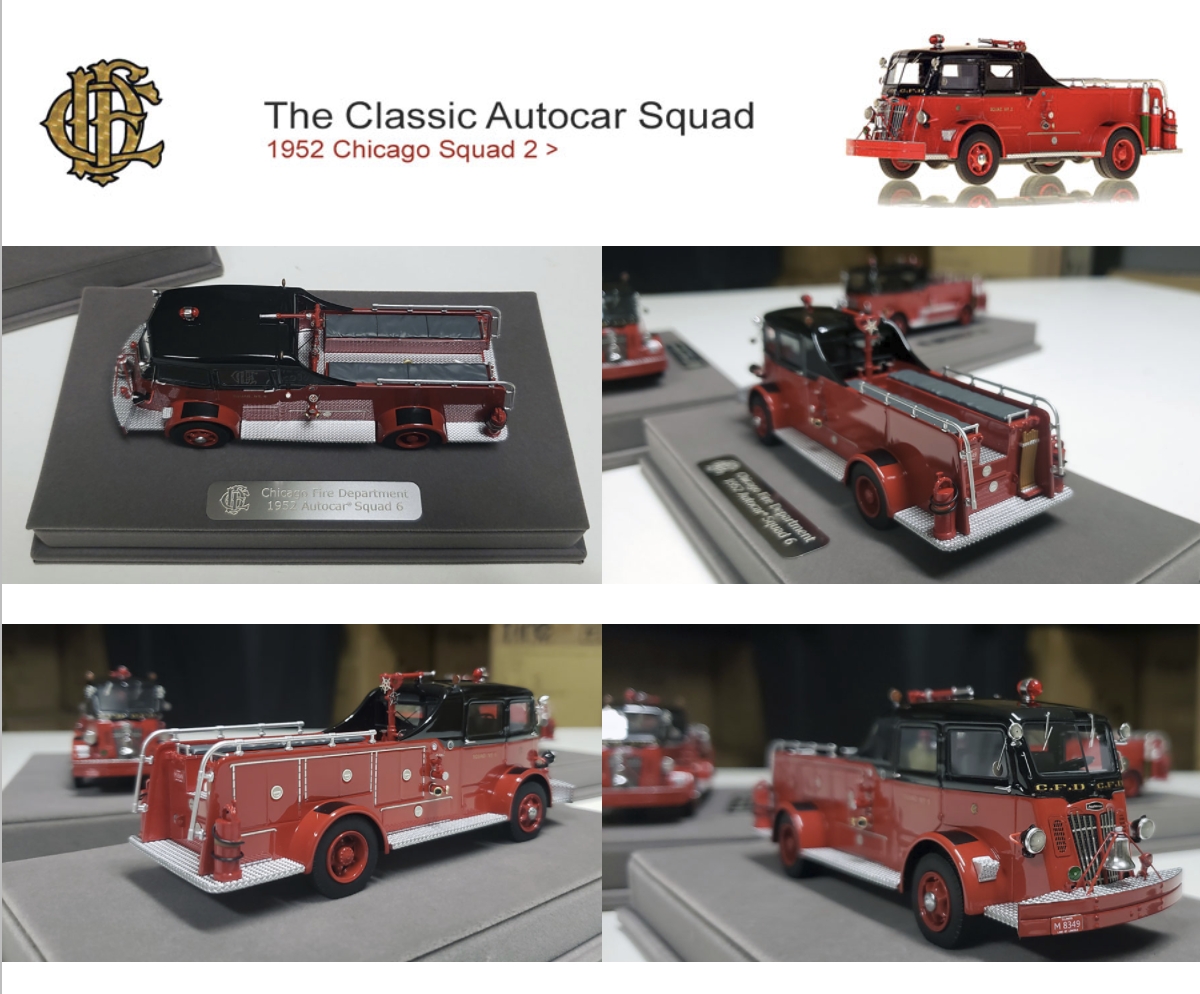 Fire Replicas 1952 Chicago FD Autocar squad models
