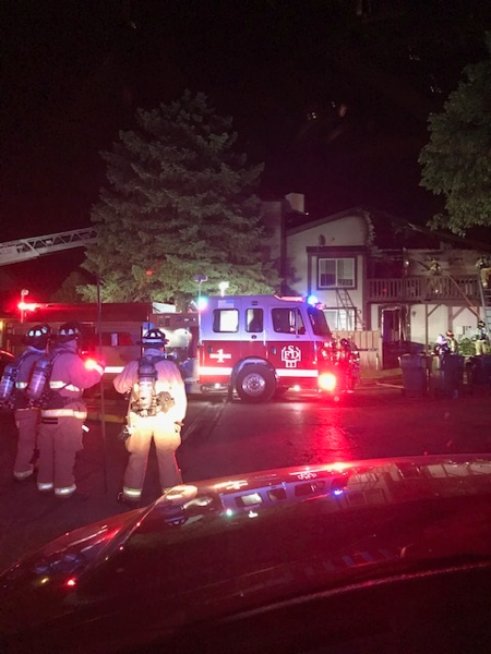 two injured in Sycamore townhouse fire